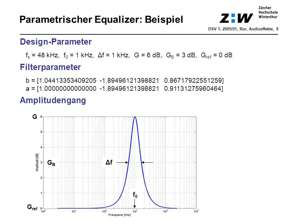 Parametrischer Equalizer: Beispiel