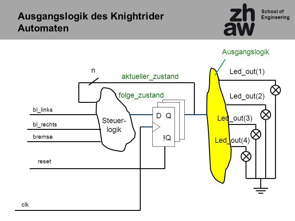 Ausgangslogik des Knightrider Automaten