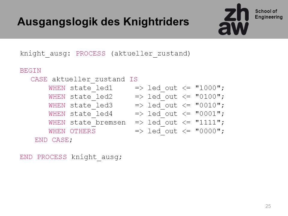 Ausgangslogik des Knightriders