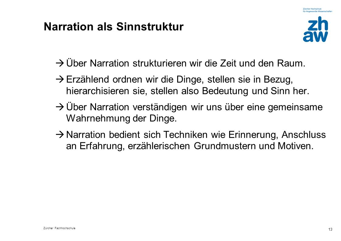 Narration als Sinnstruktur