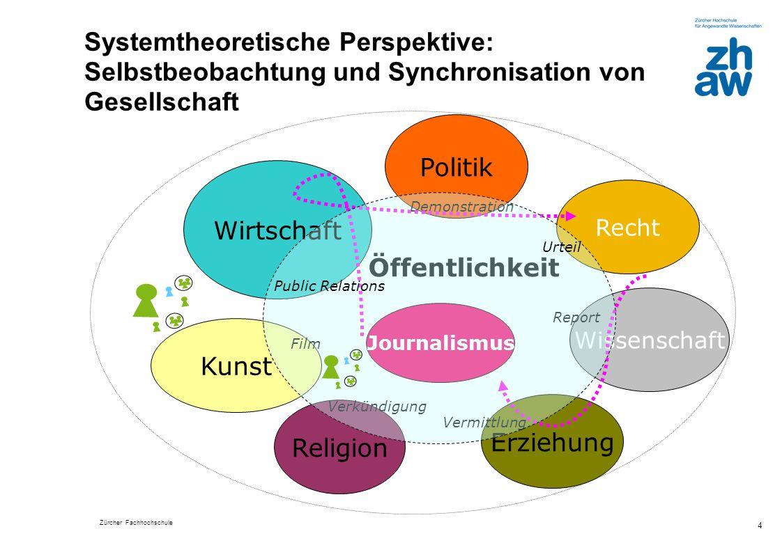 Systemtheoretische Perspektive: Selbstbeobachtung und Synchronisation von Gesellschaft