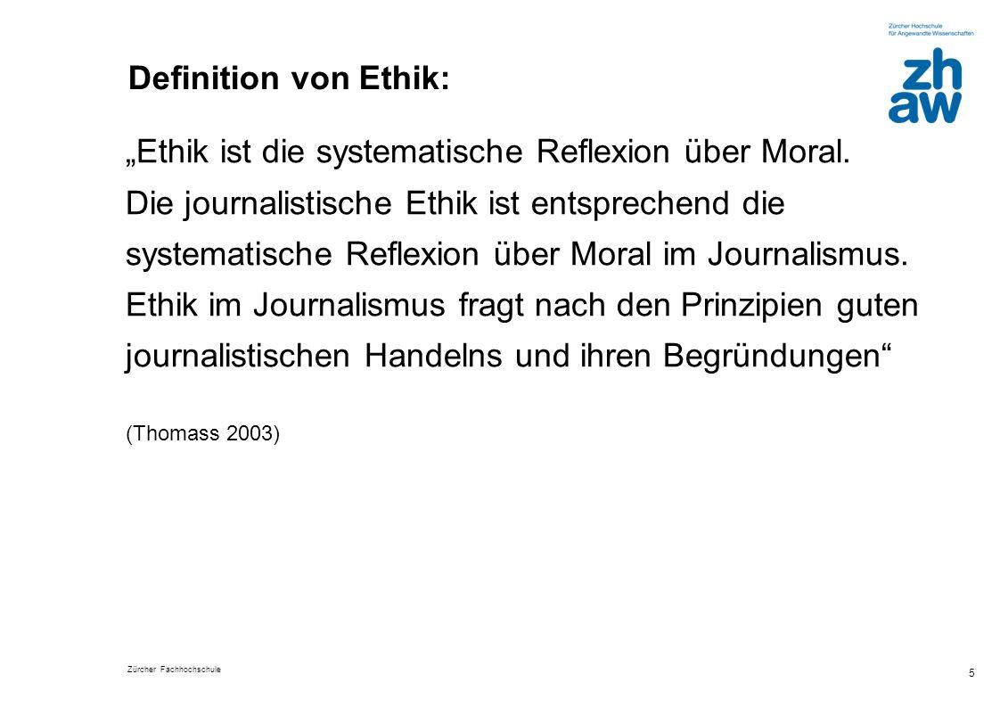 """""""Ethik ist die systematische Reflexion über Moral."""