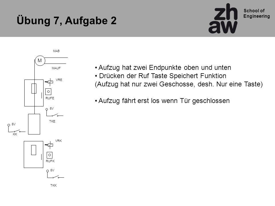 Übung 7, Aufgabe 2 Aufzug hat zwei Endpunkte oben und unten