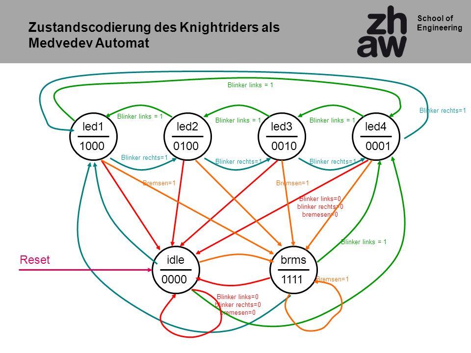 Zustandscodierung des Knightriders als Medvedev Automat