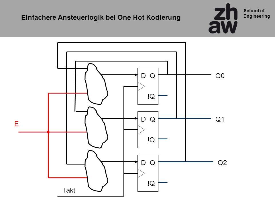 Einfachere Ansteuerlogik bei One Hot Kodierung