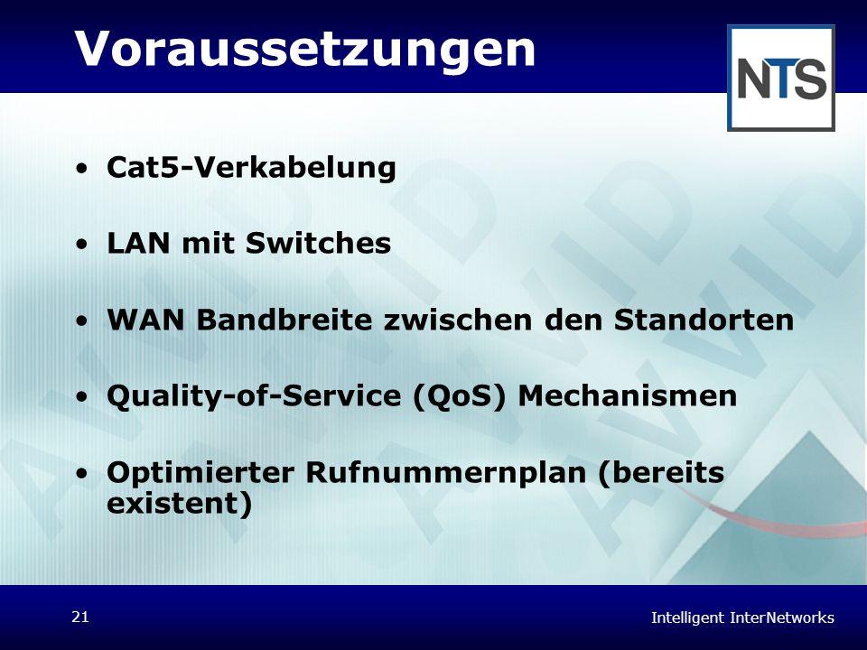 Voraussetzungen Cat5-Verkabelung LAN mit Switches