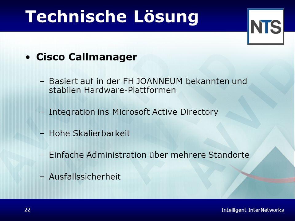 Technische Lösung Cisco Callmanager