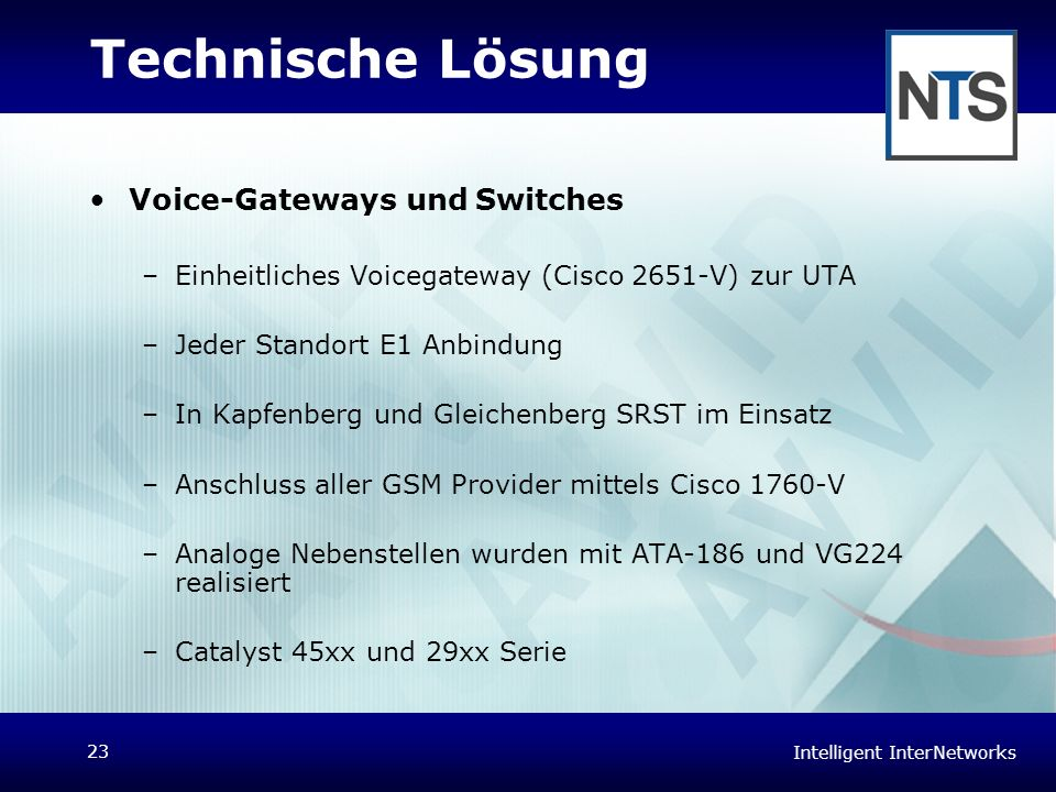 Technische Lösung Voice-Gateways und Switches