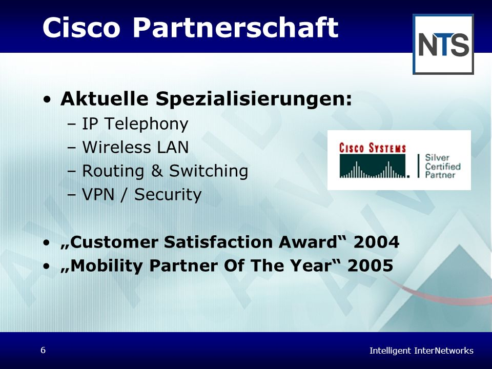 Cisco Partnerschaft Aktuelle Spezialisierungen: IP Telephony