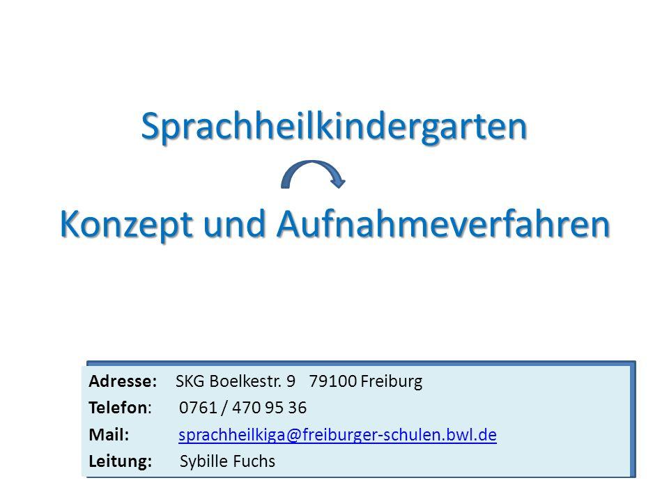 Sprachheilkindergarten Konzept und Aufnahmeverfahren