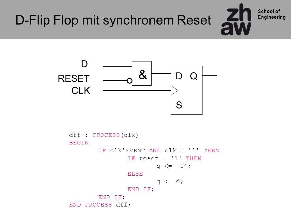 D-Flip Flop mit synchronem Reset