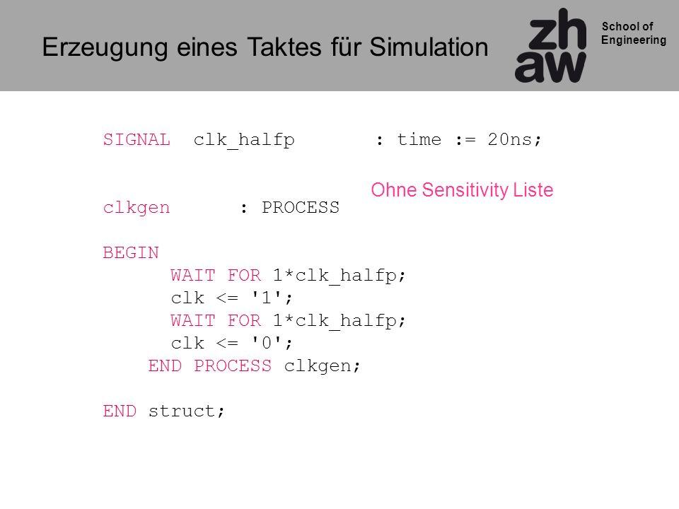 Erzeugung eines Taktes für Simulation