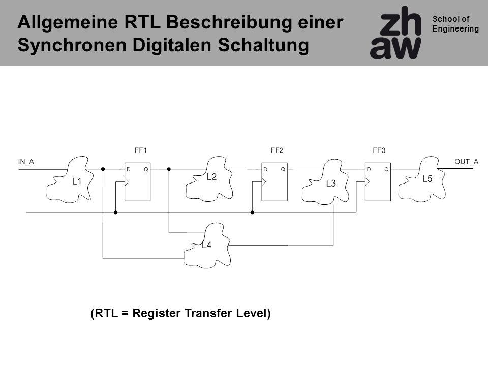 Allgemeine RTL Beschreibung einer Synchronen Digitalen Schaltung