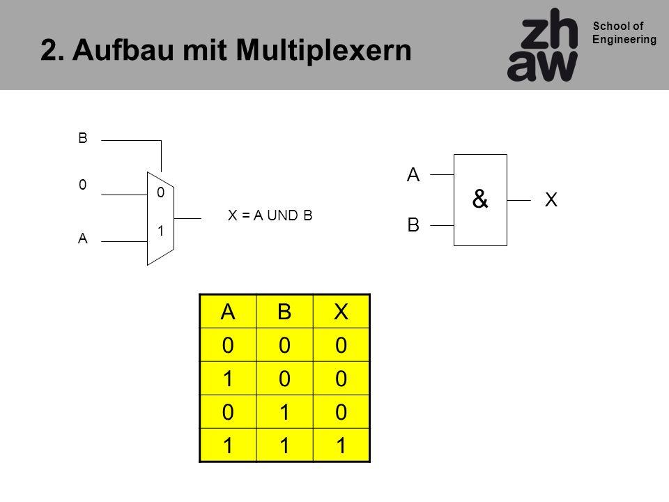 2. Aufbau mit Multiplexern
