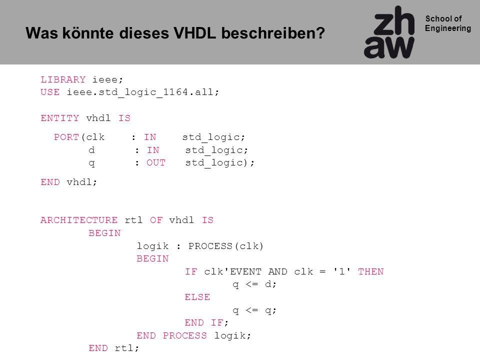 Was könnte dieses VHDL beschreiben