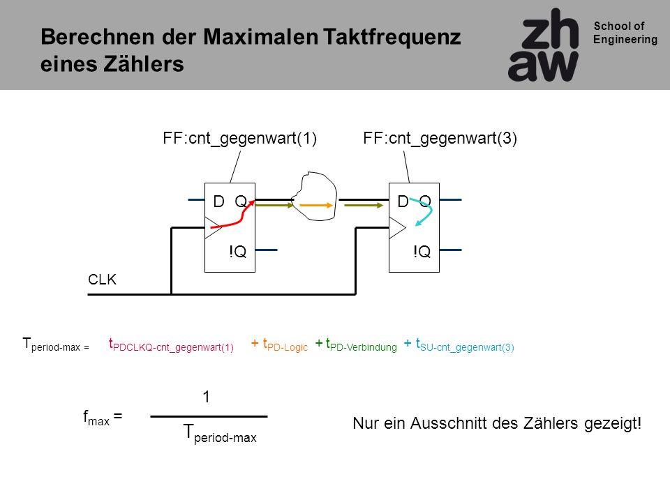 Berechnen der Maximalen Taktfrequenz eines Zählers