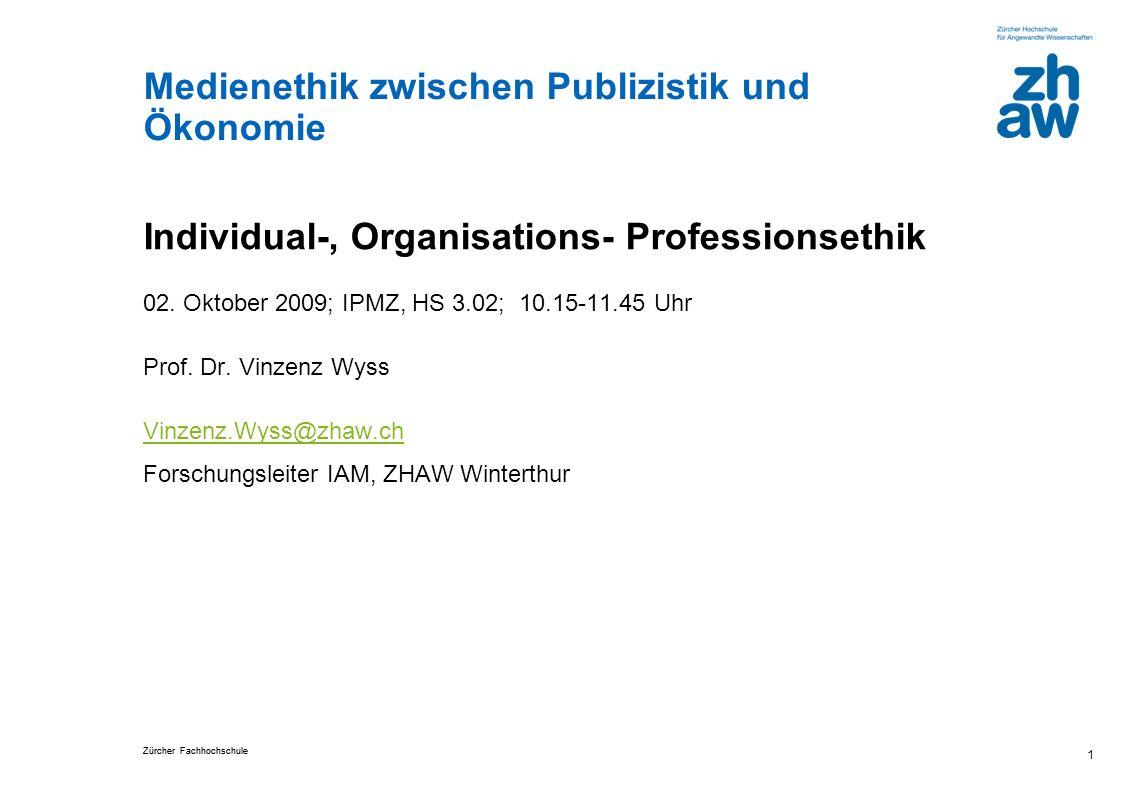 Individual-, Organisations- Professionsethik