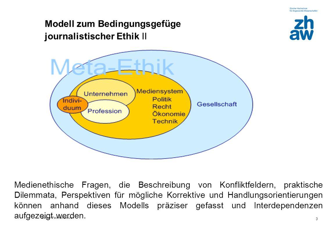 Modell zum Bedingungsgefüge journalistischer Ethik II