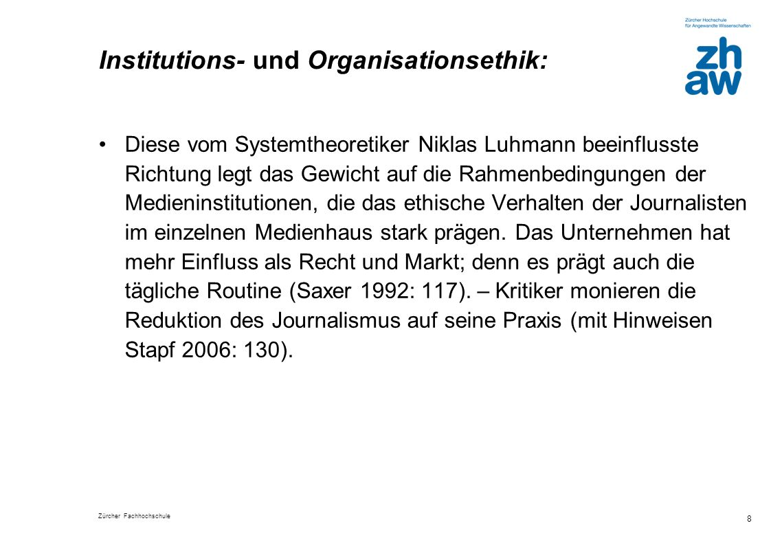 Institutions- und Organisationsethik: