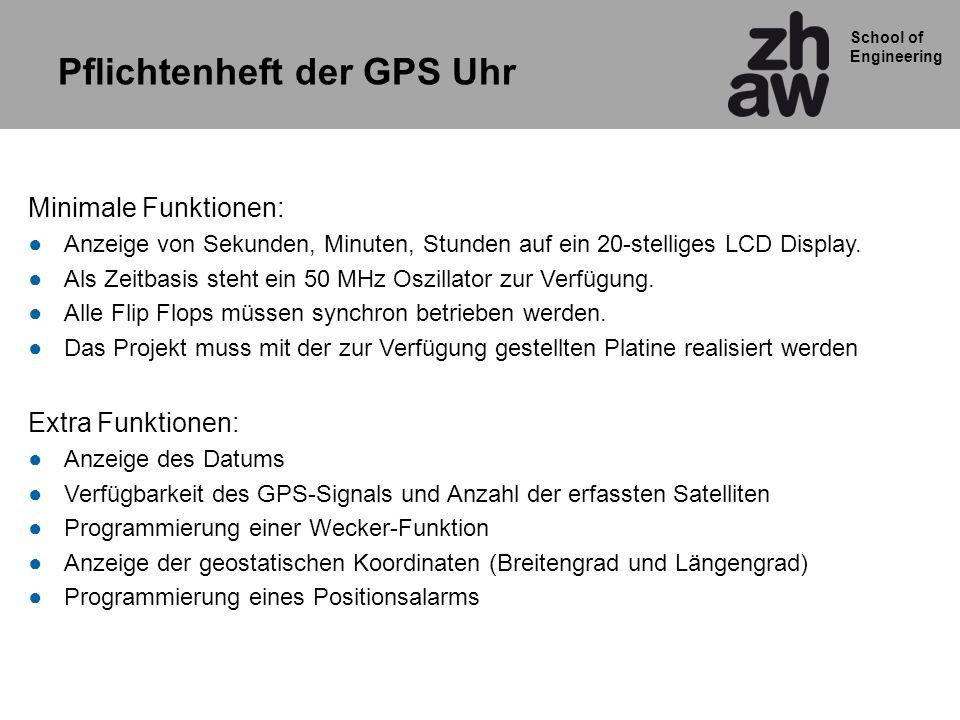 Pflichtenheft der GPS Uhr