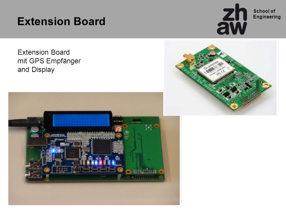 Extension Board Extension Board mit GPS Empfänger and Display