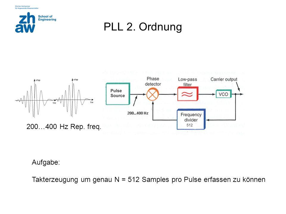 PLL 2. Ordnung 200…400 Hz Rep. freq. Aufgabe: