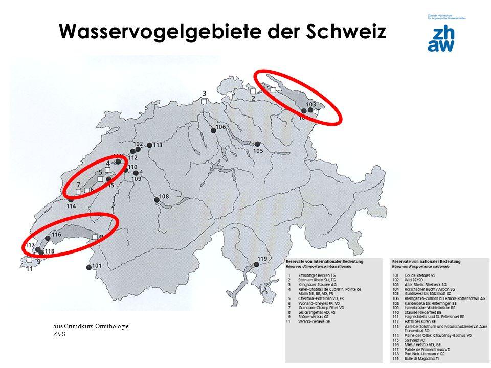 Wasservogelgebiete der Schweiz
