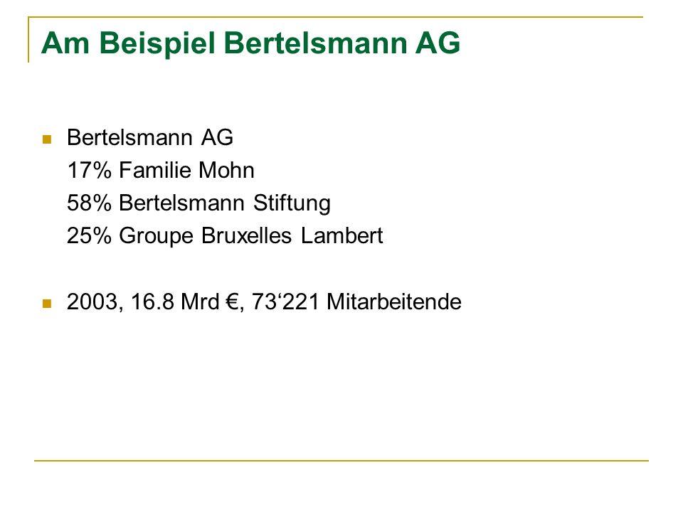 Am Beispiel Bertelsmann AG
