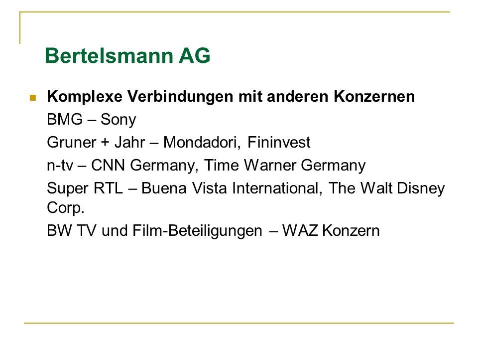 Bertelsmann AG Komplexe Verbindungen mit anderen Konzernen BMG – Sony