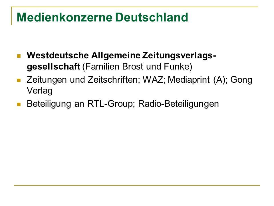 Medienkonzerne Deutschland