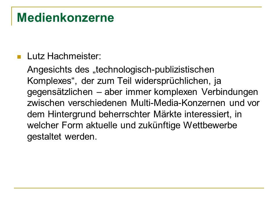 Medienkonzerne Lutz Hachmeister: