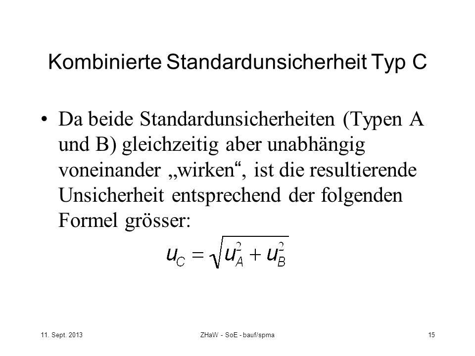 Kombinierte Standardunsicherheit Typ C