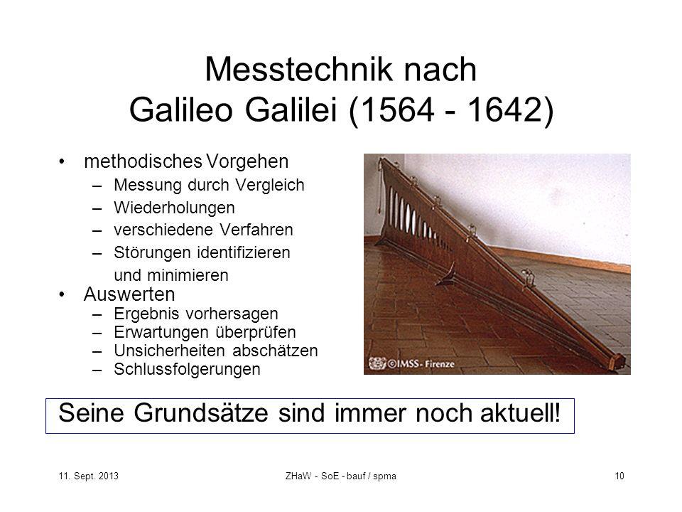 Messtechnik nach Galileo Galilei (1564 - 1642)