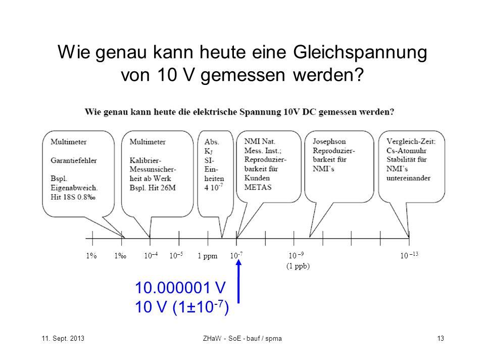 Wie genau kann heute eine Gleichspannung von 10 V gemessen werden