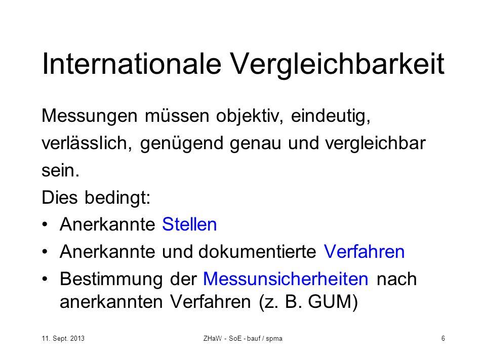 Internationale Vergleichbarkeit