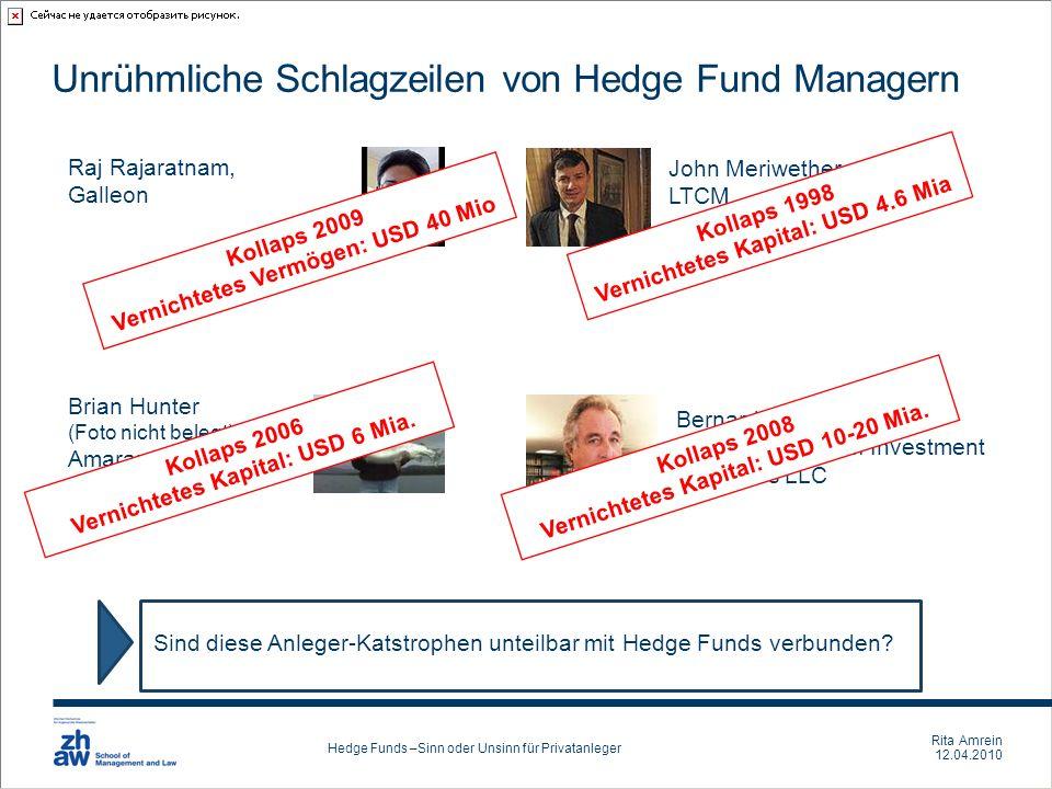 Unrühmliche Schlagzeilen von Hedge Fund Managern