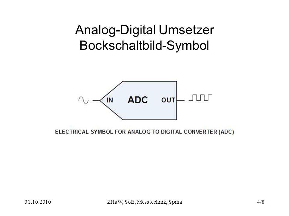 Analog-Digital Umsetzer Bockschaltbild-Symbol