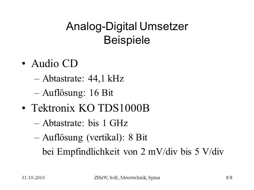 Analog-Digital Umsetzer Beispiele