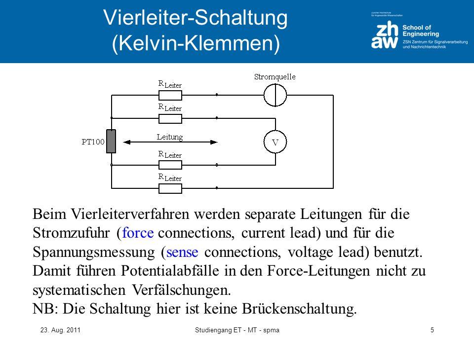 Vierleiter-Schaltung (Kelvin-Klemmen)