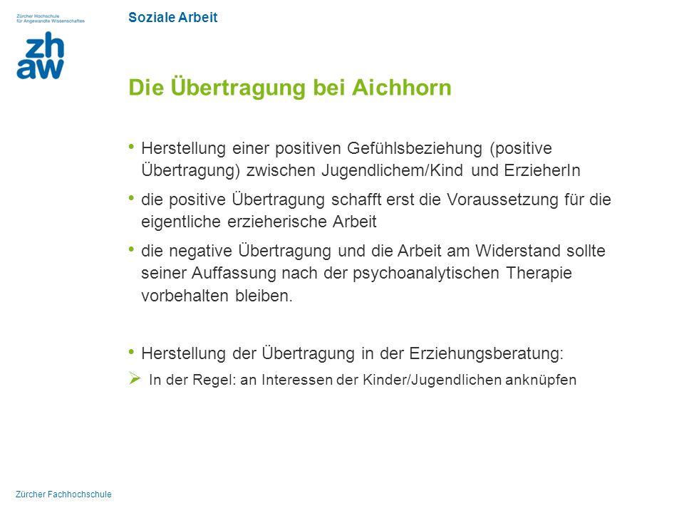 Die Übertragung bei Aichhorn