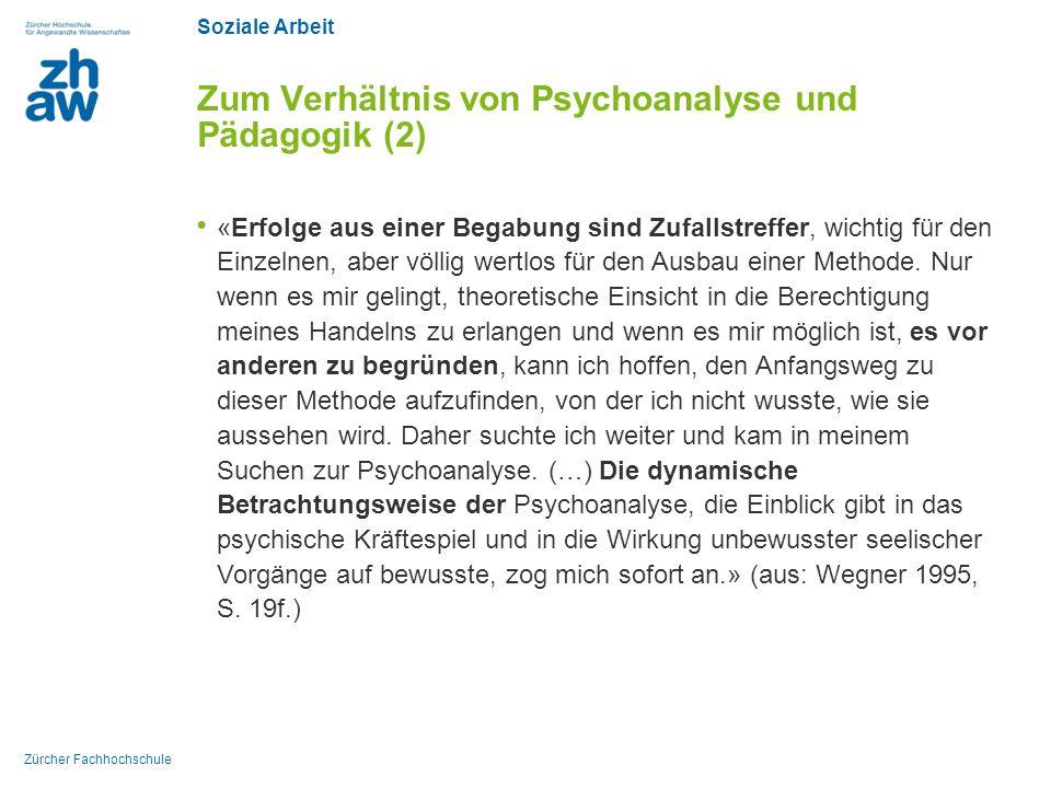 Zum Verhältnis von Psychoanalyse und Pädagogik (2)