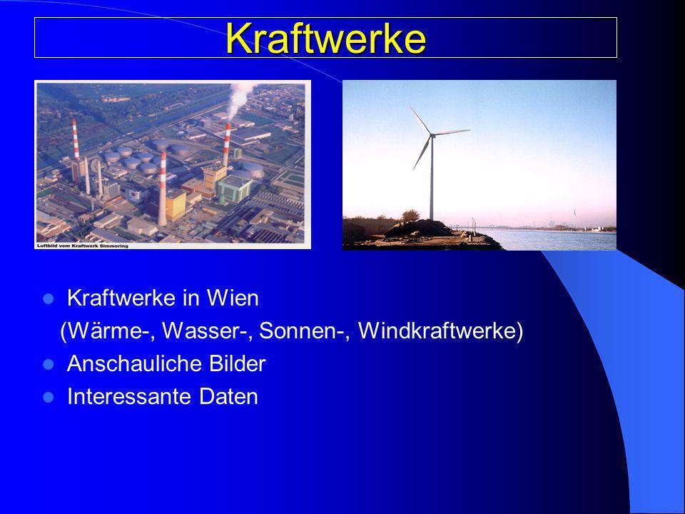 Kraftwerke Kraftwerke in Wien