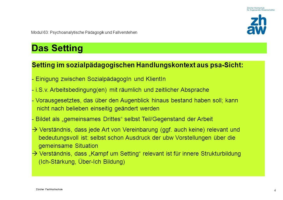 Modul 63: Psychoanalytische Pädagogik und Fallverstehen