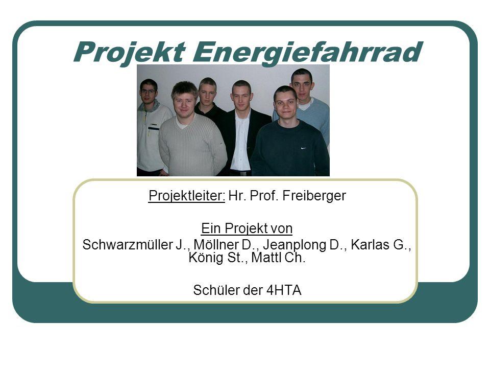 Projekt Energiefahrrad