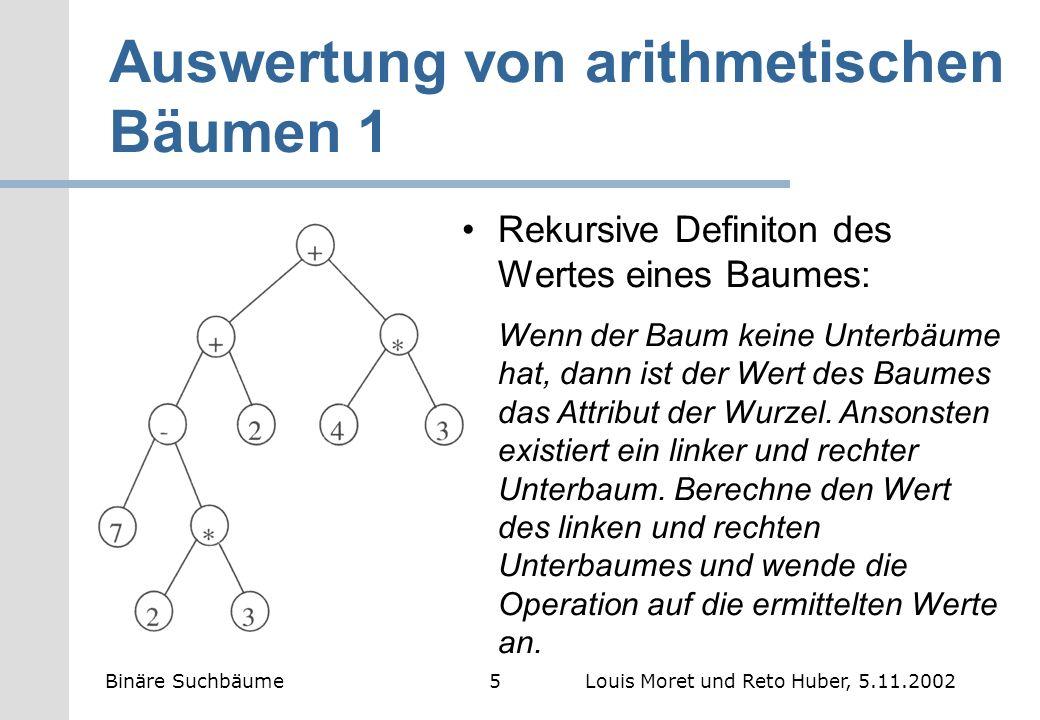 Auswertung von arithmetischen Bäumen 1