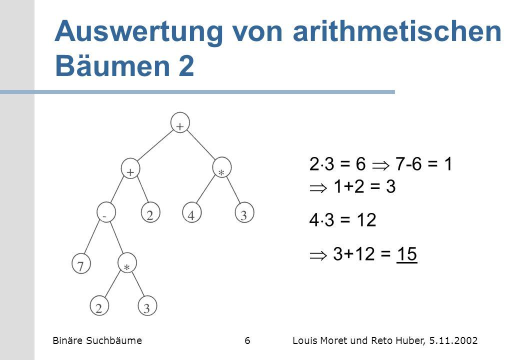 Auswertung von arithmetischen Bäumen 2