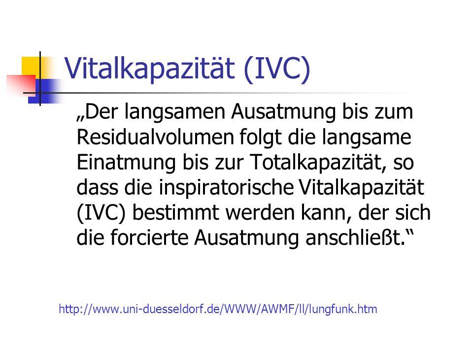 Vitalkapazität (IVC)