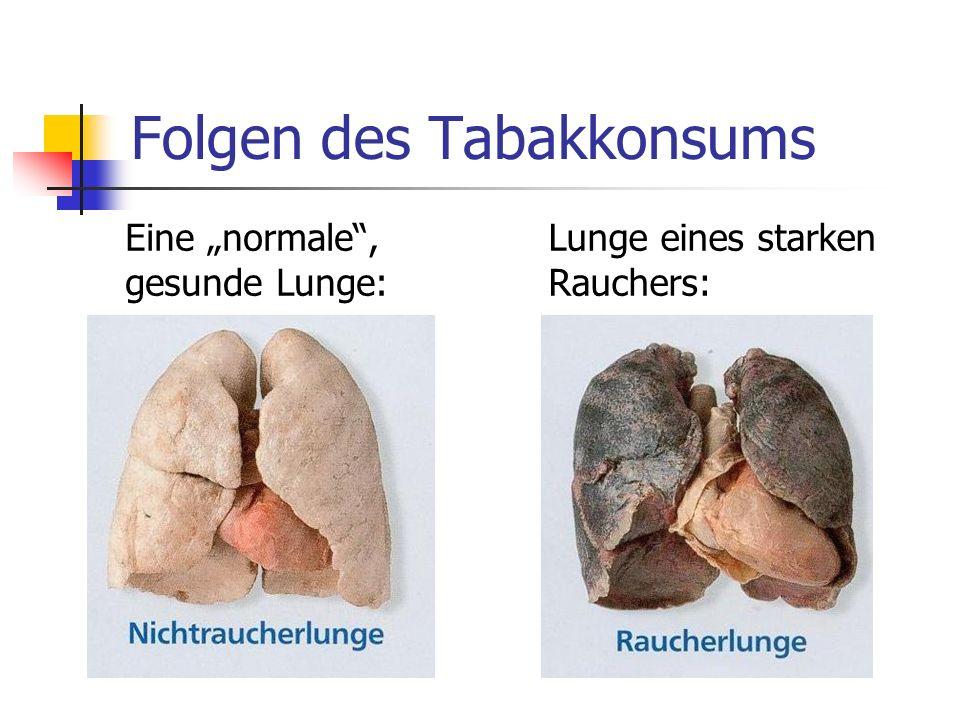 Folgen des Tabakkonsums