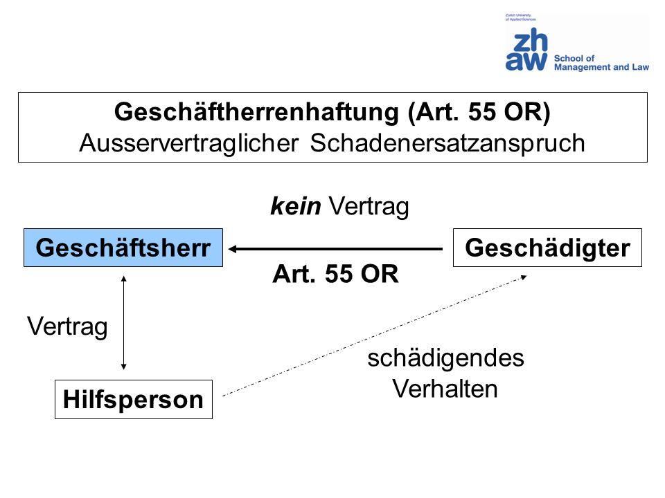 Geschäftherrenhaftung (Art. 55 OR)
