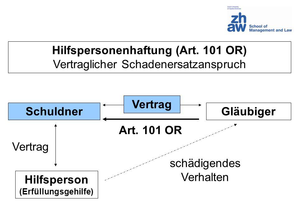 Hilfspersonenhaftung (Art. 101 OR)